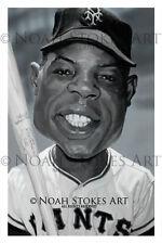 Willie Mays NY GIants Sports Art Print by Noah Stokes