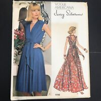 Vintage Vogue Americana Sewing Pattern 1116 14 Jerry Silverman Knit Wrap Dress L