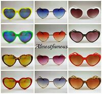 Retro Love heart shape Lolita sunglasses fashion Fancy dress Party Festival Hen