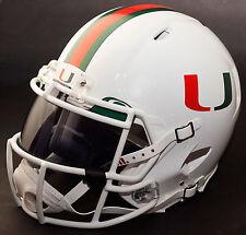 MIAMI HURRICANES NCAA Authentic GAMEDAY Football Helmet w/ OAKLEY Eye Shield