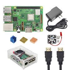 Raspberry Pi 3 Model B+ Kit Board + Power supply + HDMI + Fan + Case + Heatsink