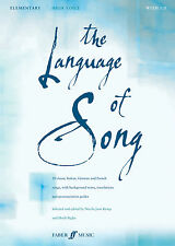 Language Of Song Elementary High Voice Classical Piano FABER Music BOOK & CD