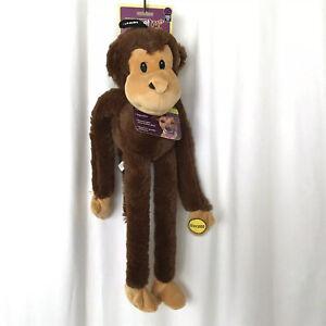 "Multipet Swingin' Safari Monkey Plush Dog Toy Extra Long Arms and Legs 22"" New"