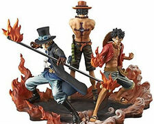 One Piece DXF Anime Luffy Sabo Puma D. Ace 3pcs PVC Action Figure Toys Gift Set