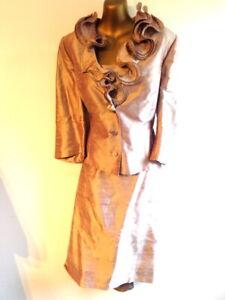Paule Vassuer 12/14 - 44 Silk 3 part Mother of the Bride dusky pink outfit (3335
