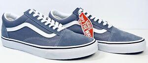 New Vans Old Skool Skate Shoes Blue Granite True White Men 10.5 Women 12