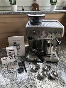 Espresso Siebträger Maschine Sage Barista Express BES875