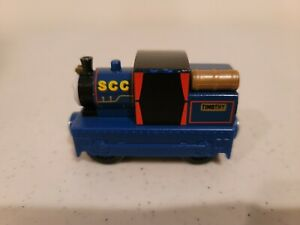 Thomas Wooden Railway Timothy Blue Train Very Good Condition   gn