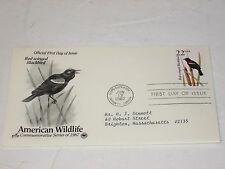 US Stamps Artcraft FDC Red-winged Blackbird Am Wildlife Series 1987 Scott 2303