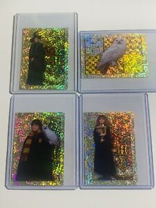 Panini 2001 Harry Potter Holographic Stickers (LOT OF 4) Harry, Hermione etc
