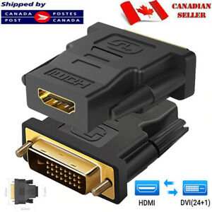 DVI-I 24+1 Male to HDMI Female Adapter Converter Gold Plated Connector For TV PC