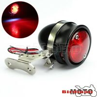 Universal Motorcycle LED Rear Brake Stop Tail Light License Number Plate Lamp