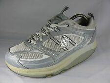 Women's Skechers SHAPE- UPS Gray White Athletic Fashion Sneakers Shoe SZ9.5 L28