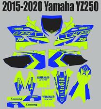 Decals for YAMAHA GRAPHICS Sticker YZ 250 YZ250 2015-2020 Bright Green