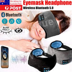 Wireless Bluetooth 5.0 Stereo Eye Mask Headphones Earphone Sleep Music Mask PB