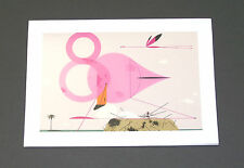 "Charles/Charley Harper Notecards ""Flamingos"" 4 Pack w/Envelopes"