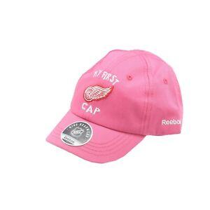 Detroit Red Wings Official NHL Reebok Infant Girls (12-24M) OSFM Pink Hat Cap