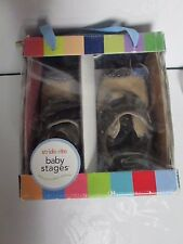 STRIDE RITE BABY STAGES SHOES 3M STAGE 1 CRAWLING SKY H&L CINDER  6-9 MONTHS