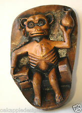 Gothic Monkey Medieval Reproduction Ape Cathedral Oak Carving Church Collectable