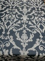 "Damask Upholstery Fabric,Denimcolor Traditional Fabric, 56"" wide, sold by yard"