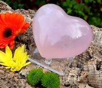 Large Rose Quartz Polished Heart - Natural Crystal Healing Chakra Reiki 518g
