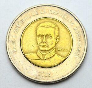 DOMINICANA 10 PESOS 2008 BI-METAL OLD COIN