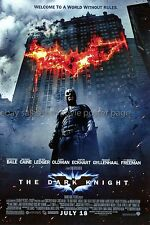 Dark Knight 2008 original DS US one-sheet movie poster Christian Bale