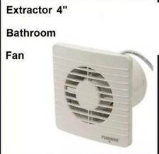 Plumbob 100mm (4 inch) Bathroom Air Extractor Fan (Wall/Window) Toilet Low Noise