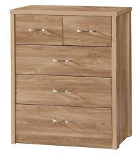 Holland Oak Bedroom Furniture Range - 3+2 Drawer Chest