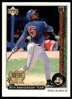 1999 UPPER DECK 10TH ANNIVERSARY TEAM SANDY ALOMAR JR. CLEVELAND INDIANS #X23