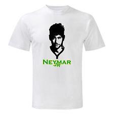 Art T-shirt, Maglietta Neymar Jr, Uomo Man, Bianco