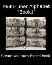 Alphabet MULTI-LINER Book Folding Patterns~Book1