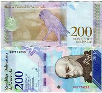 Venezuela / Venezuela 200 Bolivares Banknoten 2018 UNC.