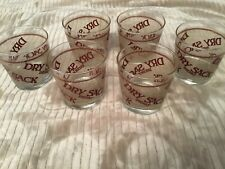 Vintage Barware Dry Sack Sherry Glass Lot (6), Brown, 3.25 Inches in Height