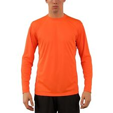 Vapor Apparel Men's Protection Long Sleeve Performance Orange Shirt Size S