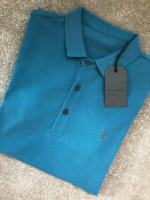 """ALL SAINTS ARCH BLUE """"REFORM"""" SHORT SLEEVE LOGO POLO SHIRT TOP - XS S NEW TAGS"""