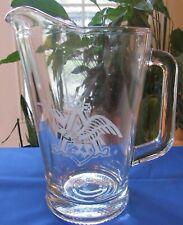Glass Anheuser-Busch Beer Pitcher / Eagle Design / Hard To Find - Mint