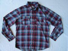 VOLCOM Workwear Plaid Flannel Shirt Occidental L/S 2 Button Pocket Tartan Mens L