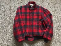 VTG Large Mens Woolrich Sherpa Lined Buffalo Plaid Wool Hunting Jacket Coat