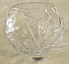 House of Goebel W Germany Pinwheel Lead Crystal Cut Glass Rose Bowl Vase 4x4.5