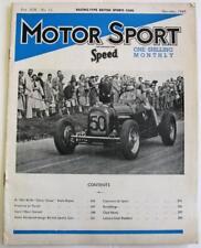 MOTOR SPORT/ Speed MagazineVol 19 no 12 Dec 1943 Squire Atalanta