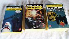 3 Livres de poche Opération Virgin, Jeux de guerre et Le protocole de l'ombre