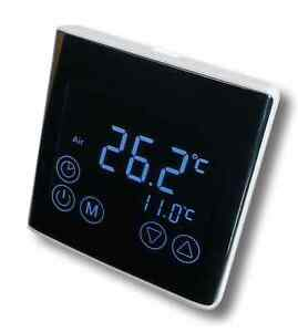 Digital Thermostat LED Touchscreen Raumthermostat schwarz programmierbar #a61