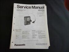 Original Service Manual  Panasonic RX-S35