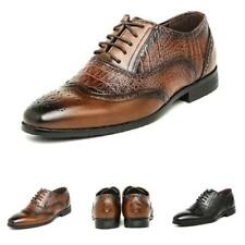 Mens Pointy Toe Work Office Wedding Oxford Low Top Faux Leather Business Shoes D