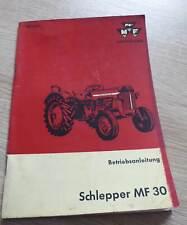 Massey Ferguson Schlepper MF 30 Betriebsanleitung