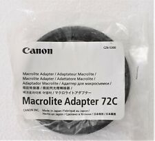 Canon anello adattatore per flash macrolite MT-24EX/MR-14EX nuovo da 72 mm