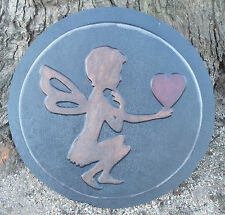 """Gostatue Mold fairy angel with heart stepping stone abs plastic mold mould 16"""""""
