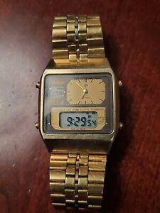 Vintage mens pulsar y651-5000 bond style watch