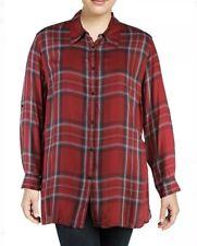 Ralph Lauren 153$ Womens Plus Twill Plaid Button-Down Top Size 1X